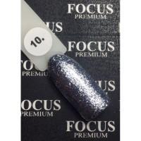 Гель-лак FOCUS premium TITAN №010 (металлик, блёстки), 8 мл