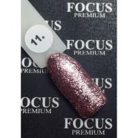 Гель-лак FOCUS premium TITAN №011 (розовые блёстки), 8 мл