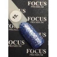 Гель-лак FOCUS premium TITAN №015 (светло-сапфировые блёстки), 8 мл