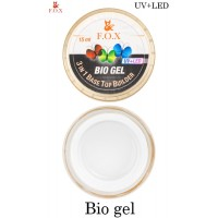 Био-гель F.O.X Bio gel Прозрачный (3 in 1 Base/Top/Builder) 15 мл