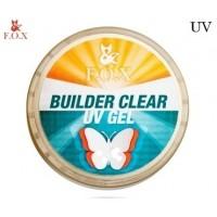 Моделирующий 3-фазный гель F.O.X Builder gel Clear (прозрачный) UV 15 мл