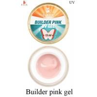 Моделирующий 3-фазный гель F.O.X Builder gel Pink (розовый) UV 15 мл