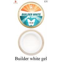 Моделирующий 3-фазный гель F.O.X Builder gel White (белый) UV 15 мл