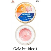 Моделирующий гель-желе F.O.X Gele builder gel Pink 01 (розовый)  UV 15 мл