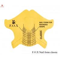 Формы для наращивания ногтей F.O.X Nail form classic (золотые), 10 шт.