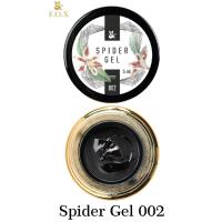 Гель-паутинка для дизайна ногтей Spider Gel 002 (черный) F.O.X, 5 мл