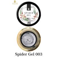 Гель-паутинка для дизайна ногтей Spider Gel 003 (серебро) F.O.X, 5 мл
