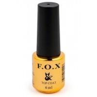 F.O.X Top Coat - топовое покрытие для ногтей, 6 мл