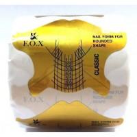 Формы для наращивания ногтей F.O.X Nail form classic (золотые), 500 шт.