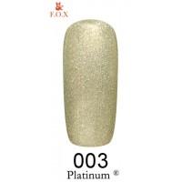 Гель-лак F.O.X Platinum ® №003, 6 мл
