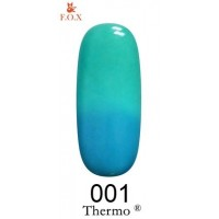 Гель-лак F.O.X Thermo ® №001 (приглушенный голубой, при нагревании бирюзовый), 6 мл