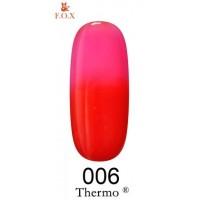 Гель-лак F.O.X Thermo ® №006 (ягодный, при нагревании ярко-розовый), 6 мл