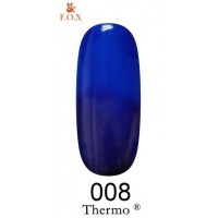 Гель-лак F.O.X Thermo ® №008 (сапфировый, при нагревании ультрамарин), 6 мл