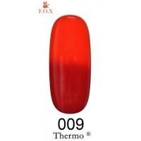Гель-лак F.O.X Thermo ® №009 (глубокий красный, при нагревании красно-терракотовый), 6 мл