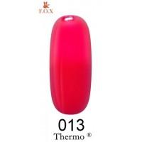 Гель-лак F.O.X Thermo ® №013 (красная аврора, при нагревании ализариновый красный), 6 мл