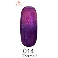 Гель-лак F.O.X Thermo ® №014 (фиолетовый, при нагревании фуксия с микроблеском), 6 мл