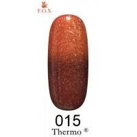 Гель-лак F.O.X Thermo ® №015 (коричневый, при нагревании янтарь с микроблеском), 6 мл