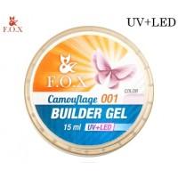 Камуфлирующий 3-фазный гель F.O.X Cover (camouflage) builder gel UV+LED 15 мл