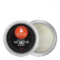 Зеркальная пудра F.O.X Metalic mirror powder серебро, 1 г