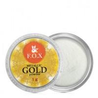 Зеркальная пудра F.O.X Metalic mirror powder золото, 1 г