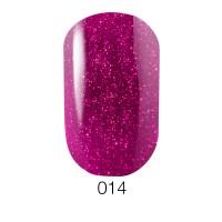 Гель-лак GO 014 (розовая фуксия с микроблёстками), 5,8 мл