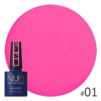 Гель-лак NUB Ohh My Matt OM 01, 8 ml