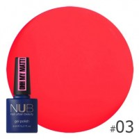 Гель-лак NUB Ohh My Matt OM 03, 8 ml