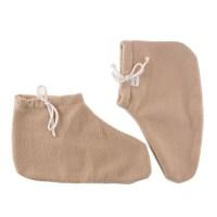 Носочки для парафинотерапии Jerden Proff флисовые, бежевые