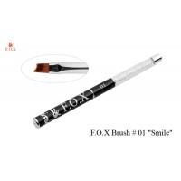 """Кисть для дизайна F.O.X №1 """"Smile"""" для прорисовки """"френча"""" малая"""