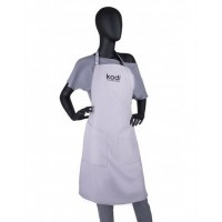 Фартук для мастера серый с черным логотипом (короткий) KODI Professional