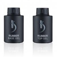 Набор Rubber Base+Rubber Top (Каучуковые основа и закрепитель для гель - лака) KODI 35 мл