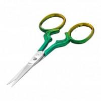 Ножницы для бровей золотисто-зелёные KODI