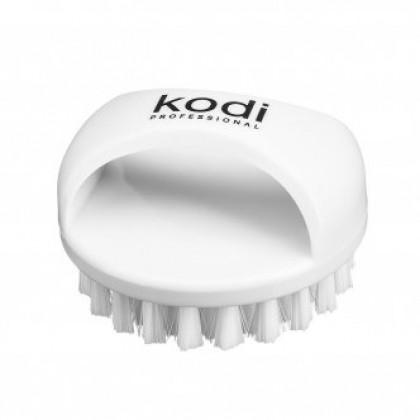 Щеточка для ногтей от пыли круглая (белая) KODI