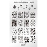 Мини пластина для стемпинга Konad Square Image Plate 10 #157-0007933