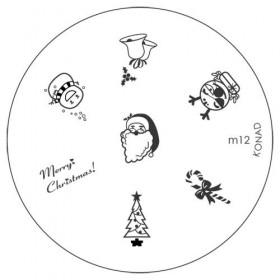 Диск для стемпинга Konad Image Plate M012