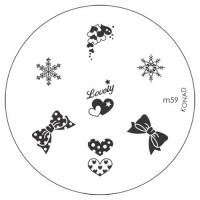 Диск для стемпинга Konad Image Plate M059