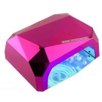 Лампа КРИСТАЛЛ LED/ UV CCFL-5 36W, цвет: розовый