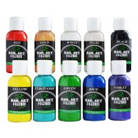 Набор 10 акриловых красок для аэрографа, PREMIUM, Nail-Art Water series по 30 мл