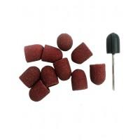 Набор: резиновая основа  d13 и 11 сменных колпачков 80 грит