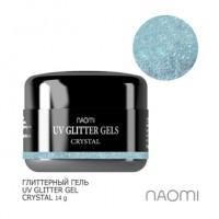 Глиттерный гель Naomi UV Glitter Gel Crystal, 14 г
