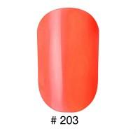 Лак NAOMI #203 оранжевый неон, 12 мл
