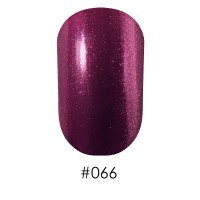 Лак NAOMI #066 фиолетовый с сиреневыми мелкими блестками, 12 мл