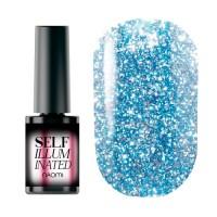 Гель-лак Naomi Self Illuminated SI 08 (сверкающий нежно-голубой с блёстками и слюдой, плотный), 6 мл