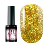 Гель-лак Naomi Self Illuminated SI 14 (жёлто-салатовый с блёстками и слюдой, плотный), 6 мл