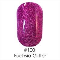 Гель лак 100 Fuchsia Glitter Topoz Naomi 6ml