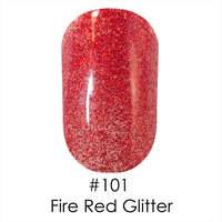 Гель лак 101 Fire Red Glitter Naomi 6ml