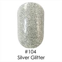 Гель лак 104 Silver Glitter Naomi 6ml