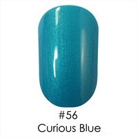 Гель лак 56 Curious Blue Naomi 6ml