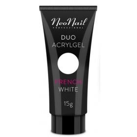 Акрил-гель Duo Acrylgel NeoNail French White (белый) 7 г, 15 г