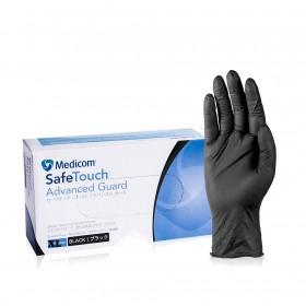 Перчатки Мedicom XL без пудры, текстурированные, черные 100 штук